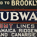 Old Subway Signs by Dave Mills
