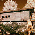 Old Time Covered Bridge by Paul W Faust -  Impressions of Light