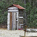 Old Time Outhouse And Pitcher Pump by Al Powell Photography USA