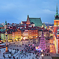 Old Town In Warsaw At Evening by Artur Bogacki