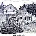 Old Water Mill by Frederic Kohli