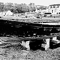 Old Wooden Fishing Boat In Portpatrick Harbour Scotland Uk by Joe Fox