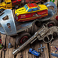 Older Roller Skate And Toys by Garry Gay