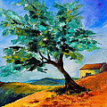 Olive Tree on the Hill Print by Elise Palmigiani