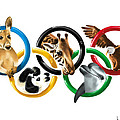 Olympic animals Print by Veronica Minozzi