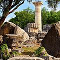 Olympus Ruins Print by Brian Jannsen