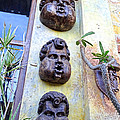 On the streets of San Cabos.Masks
