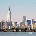 One World Trade Center And Ellis Island 2 by Susan Candelario