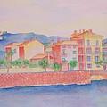 Orange Fisherman's Island Print by Rhonda Leonard