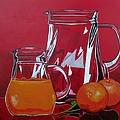 Orange Juggle by Sandra Marie Adams