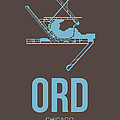 Ord Chicago Airport Poster 2 by Naxart Studio