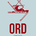 ORD Chicago Airport Poster 3 Print by Naxart Studio