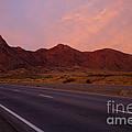 Organ Mountain Sunrise Highway by Mike  Dawson