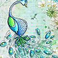 Original Peacock Painting Bird Art by Megan Duncanson Print by Megan Duncanson
