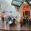 Outside The Vaudeville Theatre by Jean Beraud