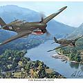 P-40 Warhawks Of The 23rd Fg by Mark Karvon