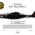 P-61b Black Widow by Arthur Eggers