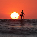 Paddle Board Sunset by Nathan Miller