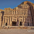 Palace Tombin Nabataean Ancient Town Petra by Juergen Ritterbach