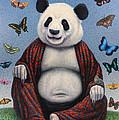 Panda Buddha by James W Johnson