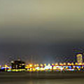 Panorama of Biscayne Bay in Miami Florida Print by Andres Leon