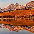 Panoramic Of Little Redfish Lake by Robert Bales