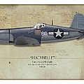 Pappy Boyington F4u Corsair - Map Background by Craig Tinder