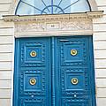 Paris Blue Door - Blue Aqua Romantic Doors of Paris  - Parisian Doors and Architecture  Print by Kathy Fornal