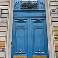 Paris Blue Doors - Paris Romantic Blue Doors - Paris Dreamy Blue Door Art - Parisian Blue Doors Art  by Kathy Fornal