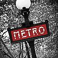 Paris metro Print by Elena Elisseeva