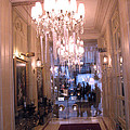 Paris Pink Hotel Lobby Interiors Pink Posh Hotel Interior Arch And Chandelier Hallway by Kathy Fornal
