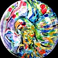 Parrot Plate  by Martha Nelson