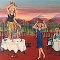 Party In Tuscany Print by Cathi Doherty