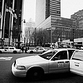 Passenger Gets Out Of Rear Door Of Yellow Taxi Cab On 7th Avenue New York City Usa by Joe Fox
