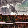 Passing Storm Over Cary Lake by David Patterson