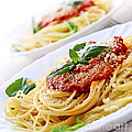 Pasta And Tomato Sauce by Elena Elisseeva