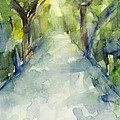 Path Conservatory Garden Central Park Watercolor Painting by Beverly Brown