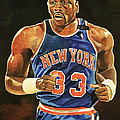 Patrick Ewing New York Knicks by Michael  Pattison