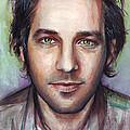 Paul Rudd Portrait Print by Olga Shvartsur