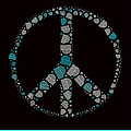 Peace Symbol Design - 87d Print by Variance Collections