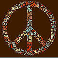 Peace Symbol Retro - 0103b  by Variance Collections
