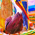 Pelican On The Dock by Wingsdomain Art and Photography