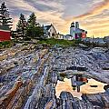 Pemaquid Lighthouse Reflection by Benjamin Williamson