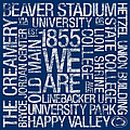 Penn State College Colors Subway Art by Replay Photos