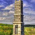 Pennsylvania At Gettysburg - 91st Pa Veteran Volunteer Infantry - Little Round Top Spring by Michael Mazaika