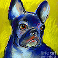 Pensive French Bulldog Portrait by Svetlana Novikova