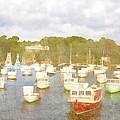 Perkins Cove Lobster Boats Maine by Carol Leigh