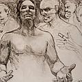 Persecution Sketch by Jani Freimann