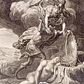 Perseus Cuts Off Medusa's Head Print by Bernard Picart