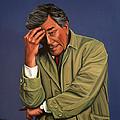 Peter Falk as Columbo Print by Paul Meijering
